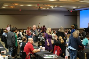 2015 conference - people talking during break